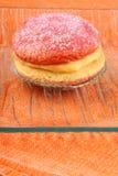 Italian custard pastry with alchermes Royalty Free Stock Photo