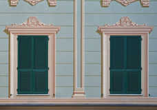 Italian decorated windows Royalty Free Stock Photos