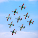 The Italian demonstration team Frecce Tricolori Stock Images