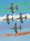 Italian demoteam Frecce Tricolori Royalty Free Stock Image