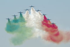 Italian demoteam Frecce Tricolori Stock Images
