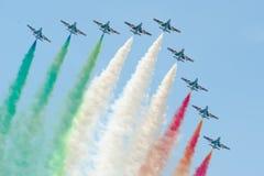 Italian demoteam Frecce Tricolori Stock Image