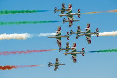 Italian demoteam Frecce Tricolori Stock Photography