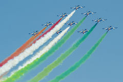 Italian demoteam Frecce Tricolori Royalty Free Stock Photography