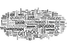 Italian Designer Shoes Word Cloud Concept Royalty Free Stock Photo