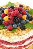 Italian dessert with berries. Stock Images