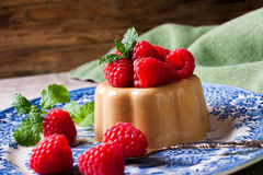 Italian dessert coffee panna cotta Royalty Free Stock Image