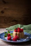 Italian dessert coffee panna cotta Royalty Free Stock Images