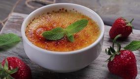 Italian dessert. stock video