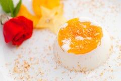 Italian dessert panna cott Royalty Free Stock Image