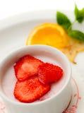 Italian dessert panna cotta Stock Images