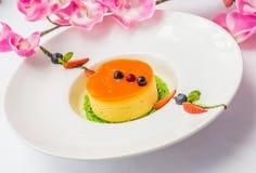 Italian dessert panna cotta Royalty Free Stock Photo
