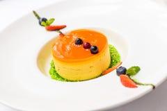 Italian dessert panna cotta Stock Photo