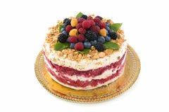 Italian dessert with summer berries. Royalty Free Stock Image