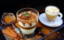 Italian dessert tiramisu royalty free stock image