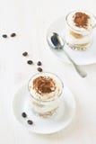 Italian dessert tiramisu Royalty Free Stock Images