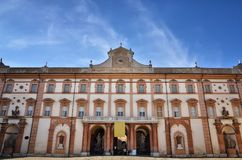 Italian destination, Ducal palace of Sassuolo, old summer residence of Este family. The Ducal Palace in Sassuolo is a Baroque villa located in the town of royalty free stock image