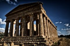 Temple of Concordia. Valley of the Temples in Agrigento on Sicily, Italy Stock Photos