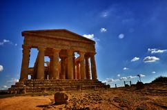 Temple of Concordia. Valley of the Temples in Agrigento on Sicily, Italy Stock Image
