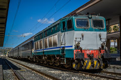 Italian diesel train Stock Images