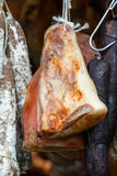 Italian different traditional sausages and ham Royalty Free Stock Images
