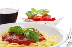 Italian dinner Stock Images