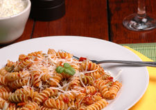 Italian dinner stock photo