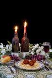 Italian Dinner Table Setting Stock Image