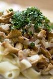 Italian dish. With pasta and mashrooms Royalty Free Stock Photo