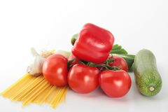 Italian dish. Food ingredients for a classical italian dish Royalty Free Stock Image