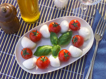 Italian dish caprese Royalty Free Stock Photos