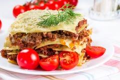 Italian dish lasagna Stock Image