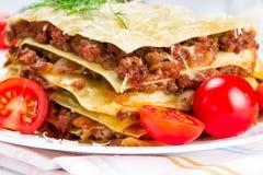 Italian dish lasagna Stock Photography