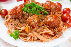 Italian dish spaghetti Royalty Free Stock Photography