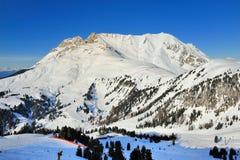 Alps Dolomite - Pampeago Obereggen sky area Royalty Free Stock Image