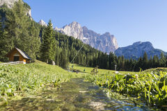 Italian dolomite Royalty Free Stock Photography