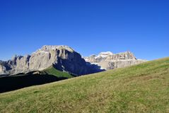 Italian Dolomites. Summer portrait of Italian Dolomites in val di Fassa South Tyrol Alps Italy stock photography