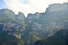 Italian Dolomites. The Dolomites in Northern Italy rise steeply and uniquely Royalty Free Stock Images