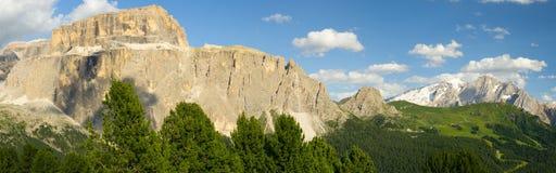 Italian Dolomites panoramic landscape Royalty Free Stock Photo