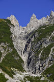 Italian Dolomites Region. The Dolomites in Northern Italy rise steeply and uniquely Stock Photo