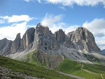 Italian dolomites in south tyrol on a sunny day stock photos