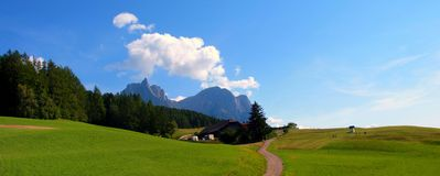 The Italian Dolomites in summer Royalty Free Stock Images