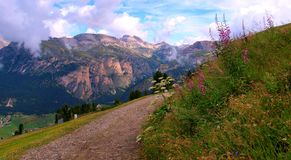 The Italian Dolomites in summer Stock Image