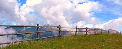 The Italian Dolomites in summer Stock Photography