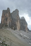 Italian Dolomites, Tre Cime Stock Photos