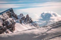 Italian Dolomites in winter Stock Photography