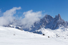 Italian Dolomites. Winter view of the Italian Dolomites Royalty Free Stock Photography
