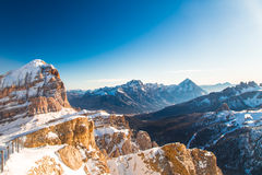 Italian Dolomiti ready for ski season Stock Image