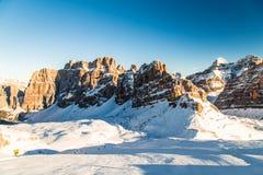 Italian Dolomiti ready for ski season Stock Image