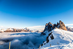 Italian Dolomiti ready for ski season Royalty Free Stock Photos